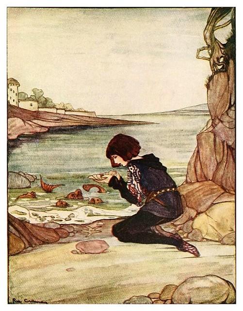 003-La serpiente blanca-Grimm's fairy tales-1927-Ilust. Rie Cramer