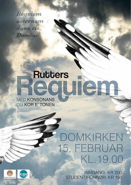Plakat for Rutters Requiem. Design: Silje Søviknes