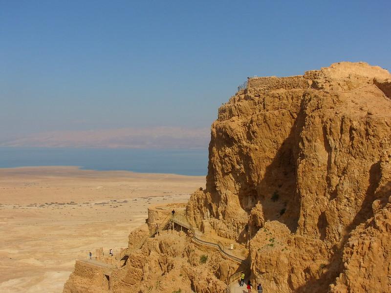 Masada, Dead Sea in background