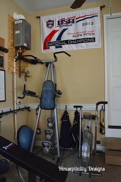 Garage organization-exercise area-Housepitality Designs
