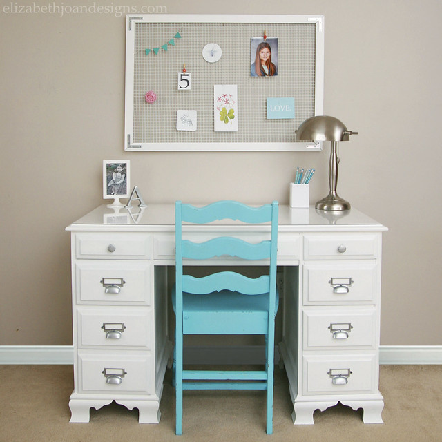 Painted White Desk