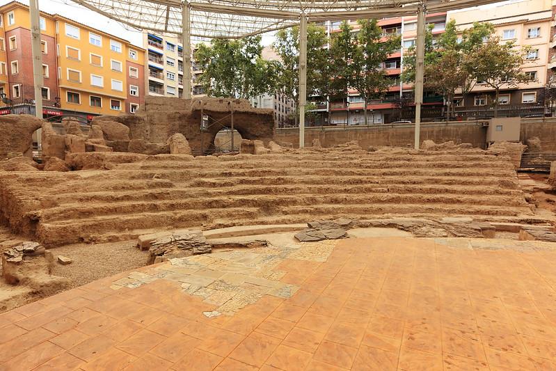 Roman theatre stage