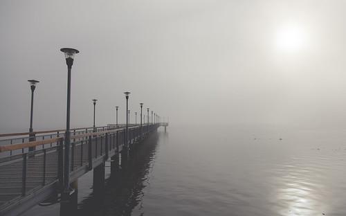 wood morning sky sun mist water fog digital sunrise canon reflections river eos pier early reflex iron peace shadows outdoor 5d parana posadas markii faroles laterns canoneos5dmarkii 5dmkii pabloreinschphotography