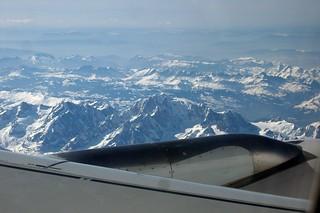 ALPS FROM A319 F-GRXA AIR FRANCE FLIGHT FCO-CDG