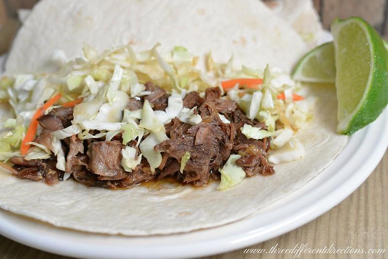 slow cooker korean beef soft tacos