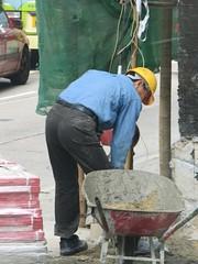 asphalt, construction worker,