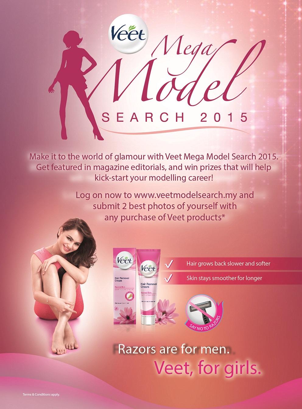 Veet Mega Model Search 2015 Key Visual