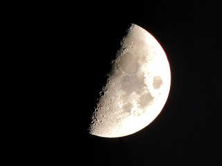 Half Moon on a very clear evening