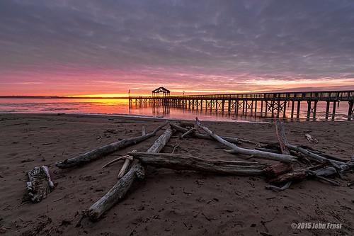 beach sunrise virginia pier wideangle leesylvaniastatepark