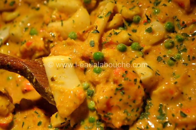 Ragoût de Seiches-Calamars-Crevettes au Safran © Ana Luthi Tous droits réservés 034
