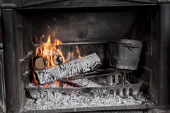 fireplace, fire, iron, hearth,