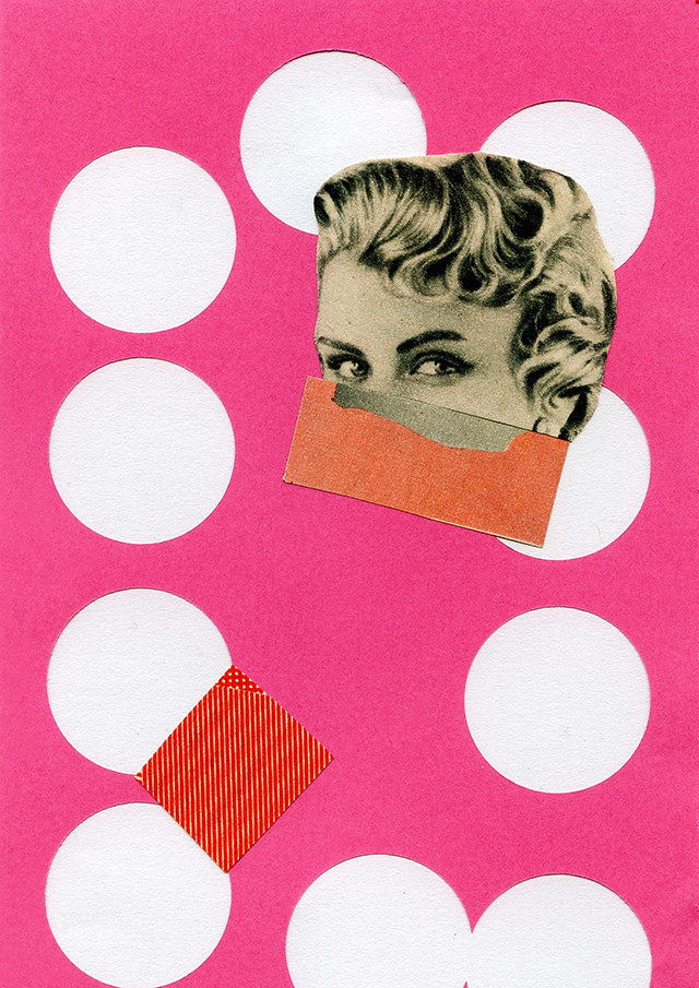 a step in time - collage by laura redburn