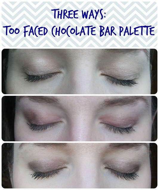 Three Ways Too Faced Chcoolate Bar Palette