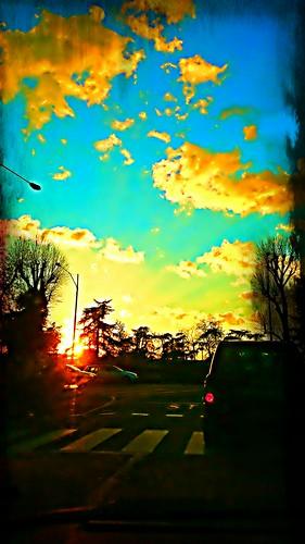 Orange cloud over my way