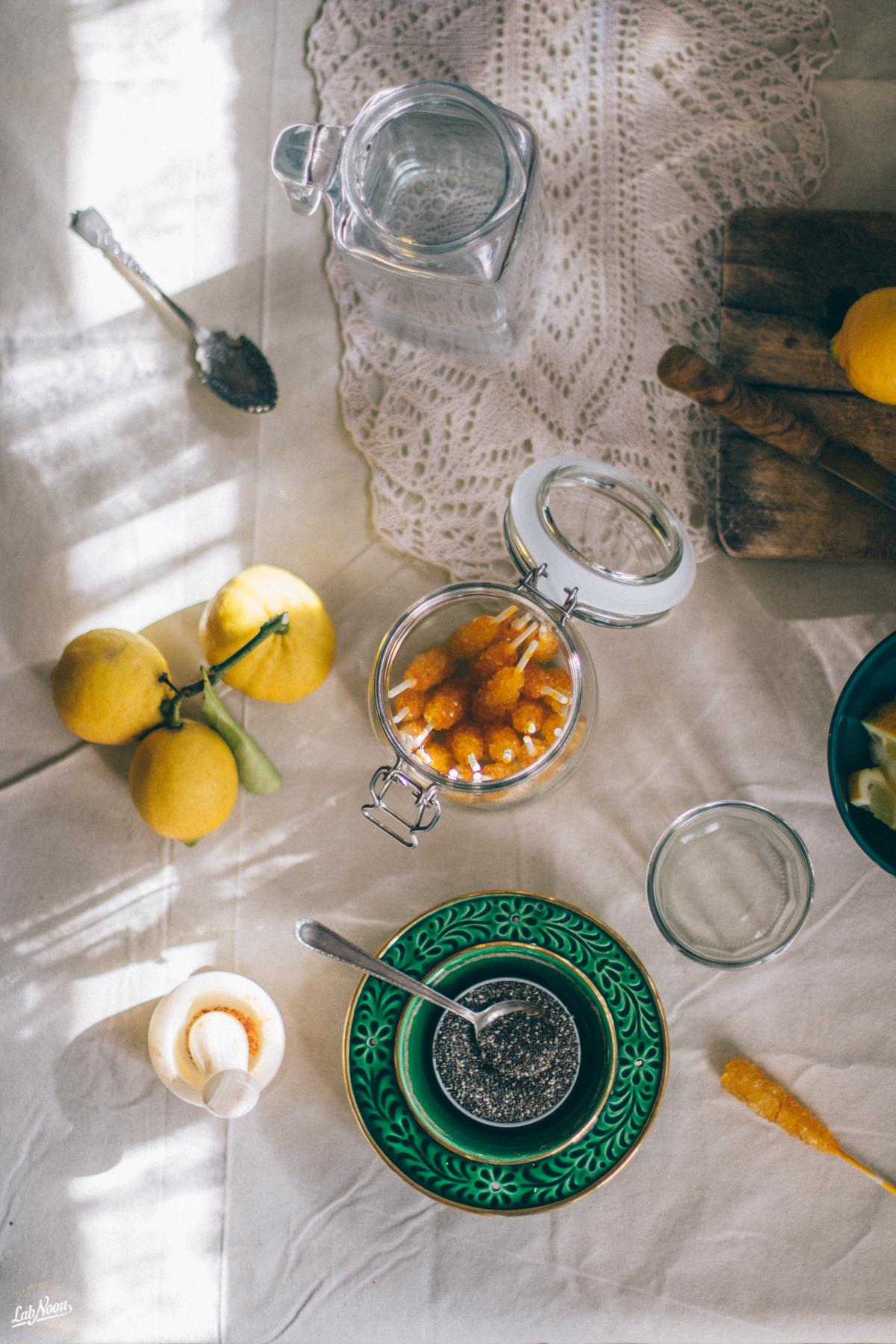 Persian Chia Seeds Drink for Nowruz | Bevanda di Semi di Chia alla Persiana per Nowruz | Lab Noon #PFBNowruz-11
