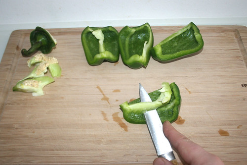13 - Paprika entkernen / Decore bell pepper