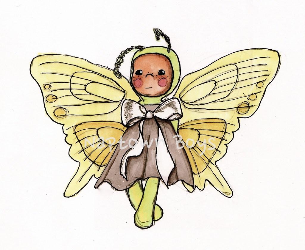"""8"""" Napling Butterfly Felicity"""