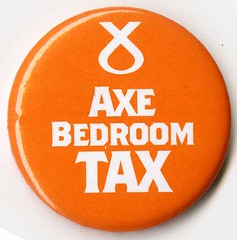 Axe Bedroom Tax.  SNP 2015 General Election Badge