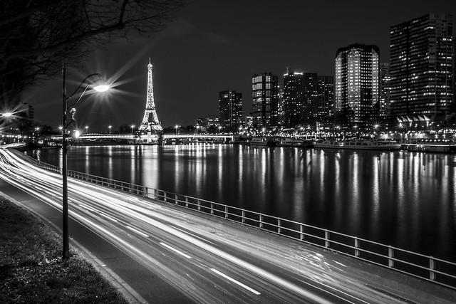 By the Seine, b&w