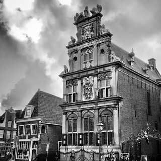History, buildings remain... #iphoneography #netherlands #dutch #iphone5s #hoorn #igersholland #blackandwhiteisworththefight #shot_4_spot_bnw #ig_artistry #ampt_community #the_iphone_arts #bnw_life #insta_pick_bw #bws_worldwide #bw #bw_scenes #myskynow #m