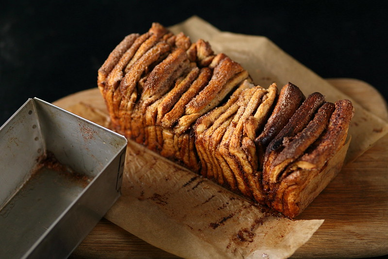 Cinnamon orange pull apart bread