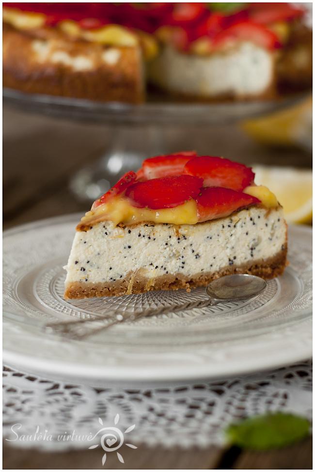 Citrininis sūrio tortas su aguonomis (5)