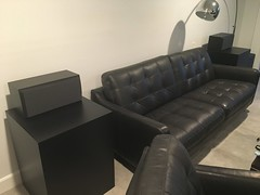Black Laminate Side table