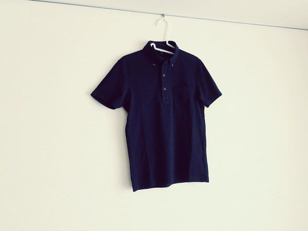 ユニクロのドライシャツカラーポロシャツ(ボタンダウン)