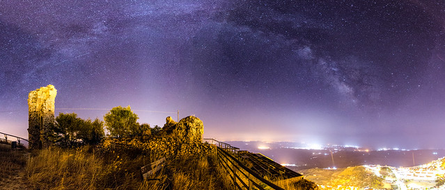 Panorama of the Milky Way in Caltabellotta.