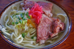 Noodle with deeply cooked pork