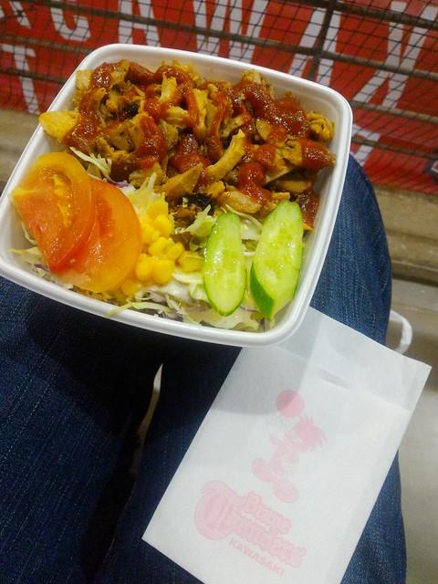 ケバブ丼 サンダースソース及びブレイビーナプキン #川崎ブレイブサンダース