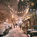 New York City - Snow  - East Village Lights --- by Vivienne Gucwa