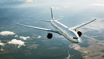 Etihad B777-300ER flying (Etihad)