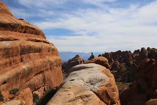 Matt at Arches National Park, Landscape/Double O arch hike