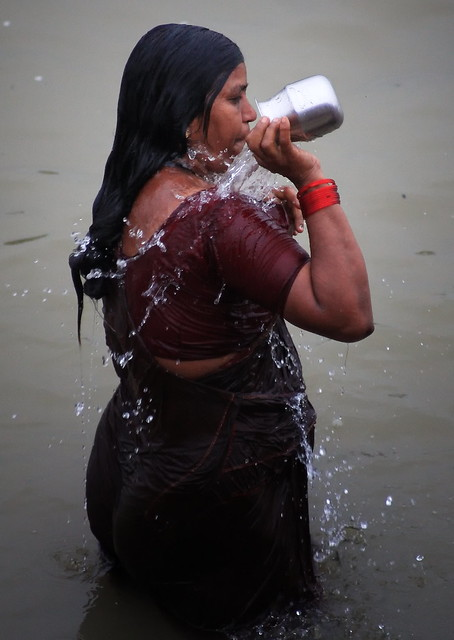 Morning Ablutions In The Ganges, India