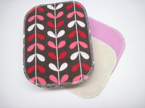 Seconds Girl Print Two Ply Flannel Wipes