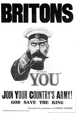 Lord Kitchener WW1 Conscription Poster