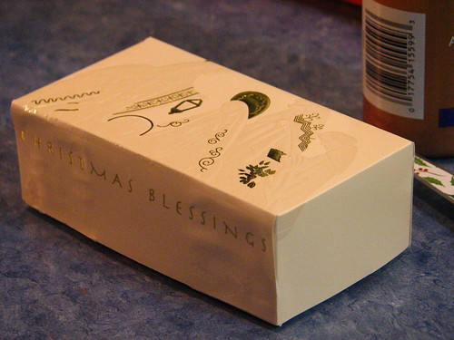make a box from a Christmas card