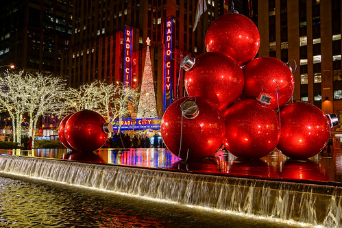 christmas city light holiday newyork architecture america lights evening unitedstates radiocity lightroom
