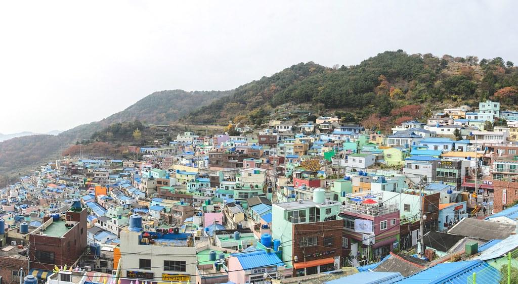 Gamcheon Art village side view