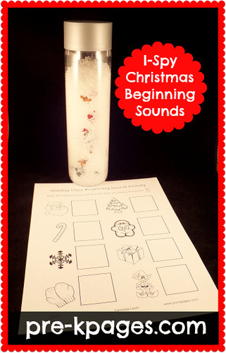 Holiday I Spy Beginning Sounds Activity (Photo from Pre-K Pages)
