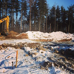 We're digging so we can pour foundations in #Georgetown's Enclaves community! #LifeStoreys