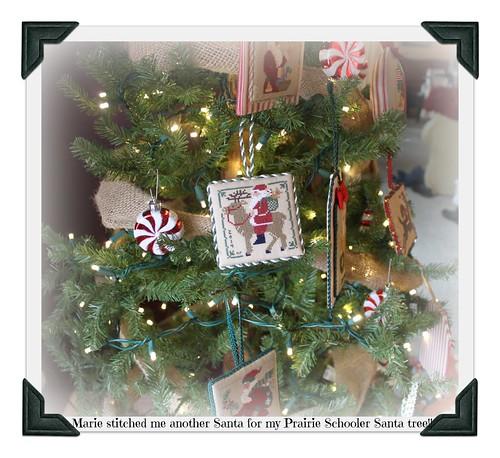 Marie's Prairie Schooler Santa for my tree