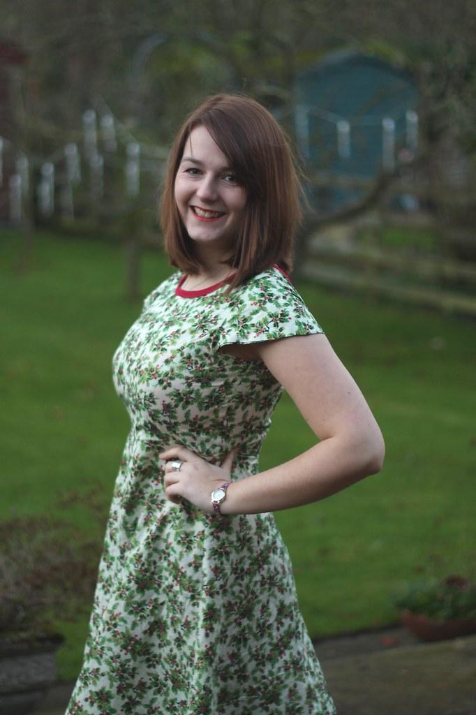 Full Skirted Dress holly fabric