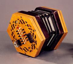 accordion, yellow, folk instrument,
