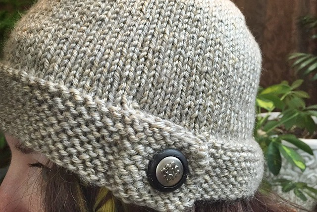 Button Knit Hat
