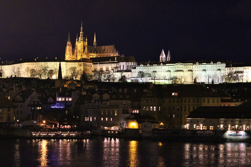 Prague castle river