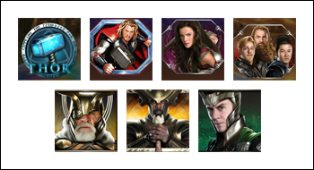 free Thor The Mighty Avenger slot game symbols