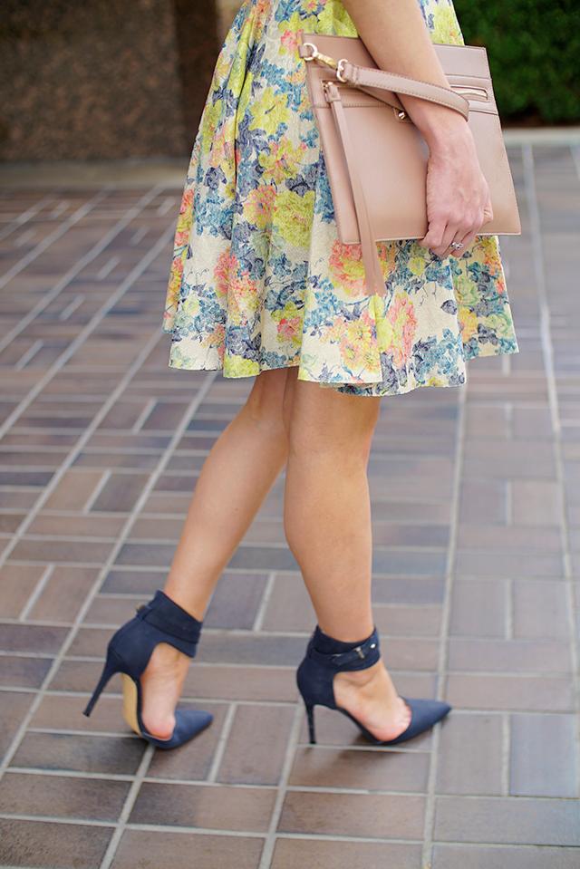 asos floral dress with collar
