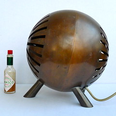 Spherical fanheater with copper casing by unknown designer